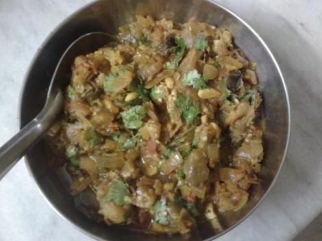 Baingan Bharta/Smoked Aubergine, The Indian Way