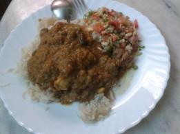 Mutton Dhansak with Brown Rice & Kachumbar